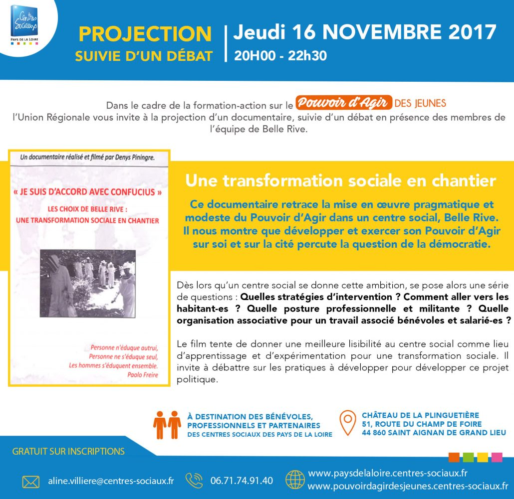 Invitation projection et débat