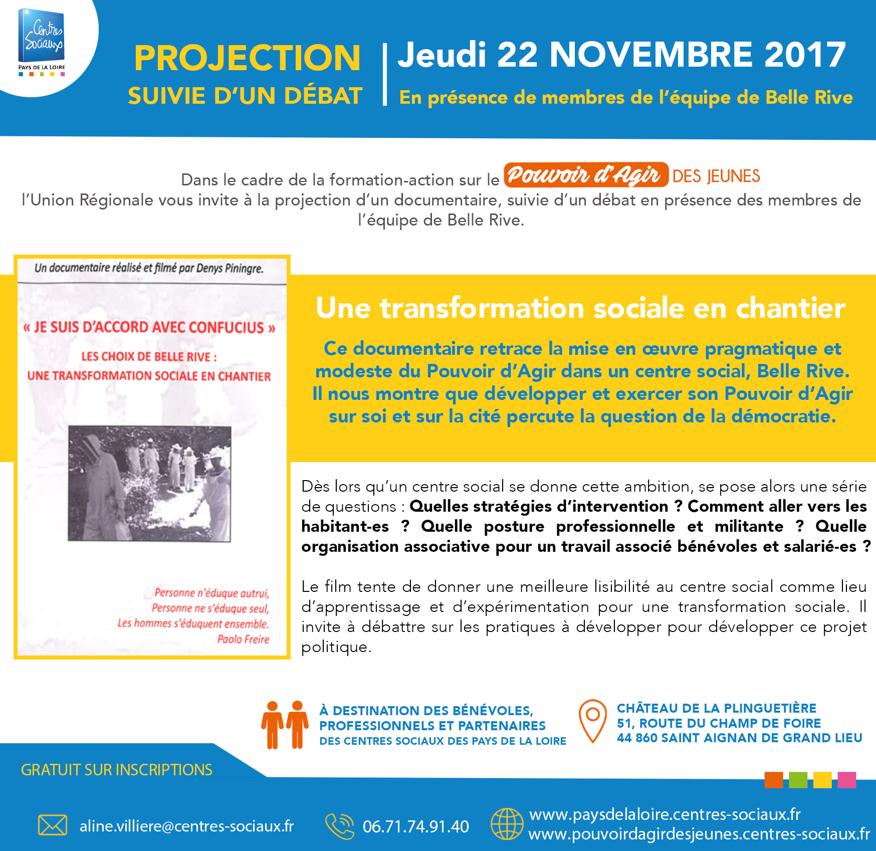 Invitation projection documentaire